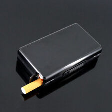 Fashion Men's Aluminum Pocket Cigarette Case Automatic Ejection Box Holder Black