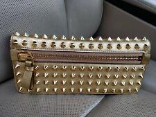 Tom Ford Metallic Studded Gold Spikes Zip Jennifer Clutch Bag Evening Purse