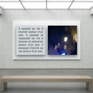 Autographe manuscrit poster photographie diptyque pop art contemporain A2