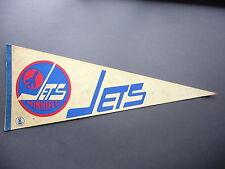 1970'S WINNIPEG JETS WHA HOCKEY PENNANT FLAG THOMAS STEEN AUTO AUTOGRAPH NICE!!