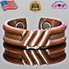VTG FINISH 100% COPPER MAGNETIC RING BAND MEN WOMEN GLADIATOR BUY 2 GET 1 FREE
