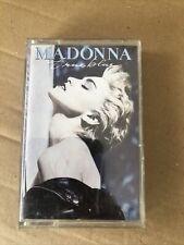 MADONNA - True Blue  (UK) / Cassette Tape Album 1986