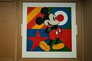 """SIR PETER BLAKE Signed """"MICKEY MOUSE"""" 60CM X 62CM"""