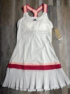 New Adidas Women's Tennis Y-Dress HEAT.RDY White Size MEDIUM NWT - NO Shorts