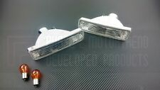 P2M Clear Front Turn Signal Lights Lamps Set Silvia Front End 180SX 240SX S13