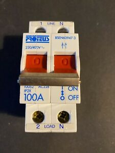 Proteus 100S2 100A Double Pole Main Switch Isolator