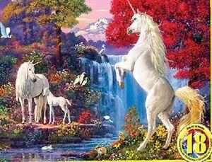 Jigsaw Puzzle Fantasy Unicorn Dream World Glow dark Hidden Images 550 pieces NEW