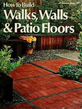 How to build walks, walls & patio floors, (A Sunset book, 170) Klein R Paperbac