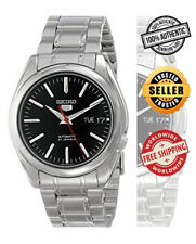 Seiko 5 Automatic SNKL45 SNKL45K1 Men Day Date Black Dial Steel Watch Free Ship