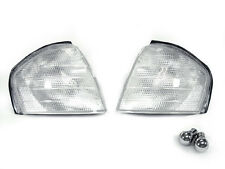DEPO 94-00 Mercedes W202 C230 C240 C280 Clear Corner Light + Chrome Bulb