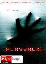 PLAYBACK - BRAND NEW & SEALED DVD (JOHNNY PACAR, CHRISTIAN SLATER) REGION 4