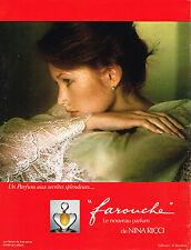 PUBLICITE ADVERTISING  1975   NINA RICCI  parfum FAROUCHE DAVIS HAMILTON