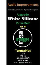 Rega Planar Upgrade Special Silicone Rundriemen 2 belts kit P1 bis P9 & clones