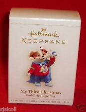 Hallmark 2006 MY THIRD CHRISTMAS 3rd Ornament Boy Puppy Child's Age Collection