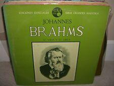 Johannes Brahms - Su Vida Y Su Obra - Rare Spanish Historian Vinyl in NM Cond L5