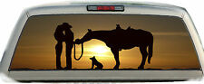 Horse Cowboy Love #01 Rear Window Vehicle Graphic Tint Truck Stickers Decals