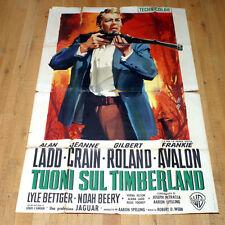 TUONI SUL TIMBERLAND poster manifesto Ladd Roland Crain Western Guns of G15
