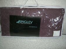 New Ringley Home Collection Shells Velvet Throw colour Amethyst one size