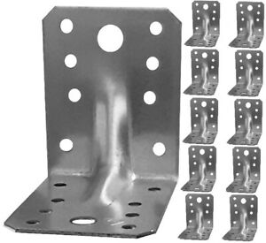 Heavy Duty 2mm Thick Zinc Plated Reinforced Corner Angle Bracket Galvanised