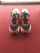 Nike Air Max 90 EZ Sz 10 Wolf Grey Infrared Black Red Shoes AO1745 002 New