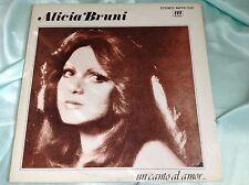 Rare Female Latin Disco Vocal LP : Alicia Bruni ~ Un Canto al Amor ~ Mate 050