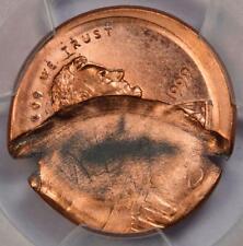 1999 PCGS MS66RD Large Mushroom 50% Broadstruck Brockage Lincoln Cent Mint Error