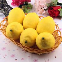 1 6 X Zitrone künstliche Frucht-Fälschungs-Theater Prop Staging Home Decor R3B8