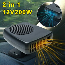 Plug-in Ceramic Car Heater 12V 200W Heating Fan Defogger Defrost Demister Black