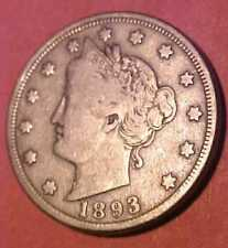 1893 Liberty Nickel ~Nicer Gem Circulated ~Harder to Find Nice ☆☆Make An Offer☆☆