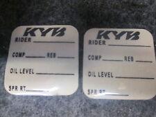 Universal KAYABA KYB motocross fork+shock settings graphic decal set SH008