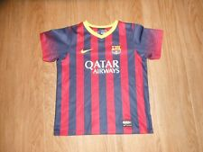 Fc Barcelona Qatar Airways Nike Fit Football Soccer Jersey Kids Large Lfp