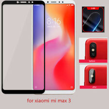 For Xiaomi Mi Max 3 Real Tempered Glass Screen Protector Guard +Camera Lens film