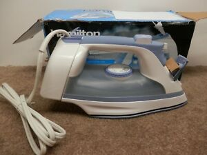 HAMILTON BEACH NONSTICK SOLEPLATE IRON SUPERIOR WRINKLE REMOVAL