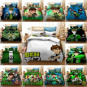Ben 10 Bedding Set 3D Alien Duvet Cover Pillowcase Ben Quilt Cover Boys Bed Sets