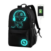Anti-theft USB Charging Port Backpack Laptop Notebook Travel School Bag US