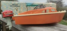 "Vintage Fleetline ""El Capitan"" Plastic Battery Operated Model Boat With Sea Dart"