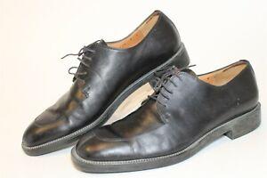 Salvatore Ferragamo Studio Italy Made 18201 Mens 9 D Leather Oxfords Dress Shoes