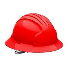 JSP Hard Hat Full Brim with 6 Point Slip Ratchet Suspension, Red