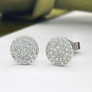Ladies Earrings 14ct (585,14K) White Gold Diamond (0.50ct) 50pts Stud Earrings