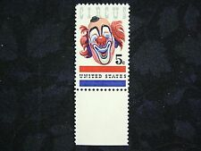 United States, 1966 American Circus, Jolly Clown, Scott 1309, 5 Cent, MNH