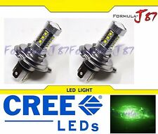 CREE LED 80W 9003 HB2 H4 GREEN TWO BULB HEAD LIGHT OFF ROAD LAMP REPLACEMENT FIT