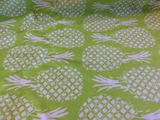 FABRIC FINDERS #1640 PINEAPPLES ON LIME COTTON-60 INCH WIDE- BY THE YARD