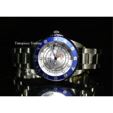 Invicta Grand Ocean Quartz Dual Time GMT Blue&Silver Stainless Steel Women Watch