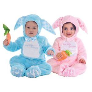 Blue Pink Baby Rabbit Child Fancy Dress Kids Easter Animal Costume 3-36 Months