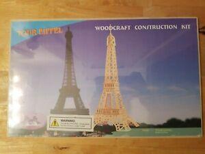 EIFFEL TOWER WOODCRAFT CONSTRUCTION KIT 3D Puzzle Ages 5+ A2