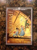Peter Pan (Blu-ray/DVD,2013,2-Disc,Diamond Edition;DVD/Blu-ray) Authentic US