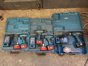 Makita 14v And 18v Battery Drills 6347d, 6381d, 6280d, Spares Or Repairs