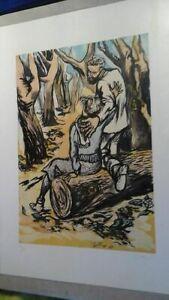 1971 GUTTUSO GRANDE LITOGRAFIA 50X70 FIRMATA GARANZIA AL RETRO OFFERTA € 215