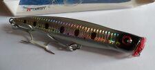 Noeby leurre Popper 15,5cm 52g nage surface couleur marron verdâtre holo