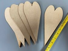 QTY 10x 240mm XXL LARGE MDF WOODEN PRIMITIVE LOVE HEARTS WEDDING CRAFT SHAPES